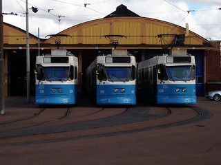 Three trams