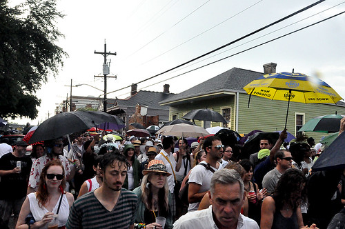 Second Line on St Philip Street for Uncle Lionel Batiste on July 13, 2012.  Photo by Kichea S Burt.