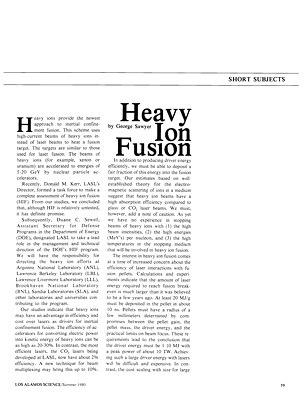 Heavy Ion Fusion