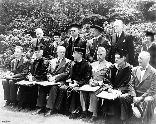 Oppenheimer Marshall Conant Bradley and others at Harvard