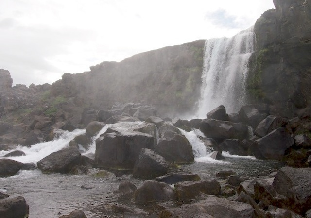 Waterfall at Thingvellir