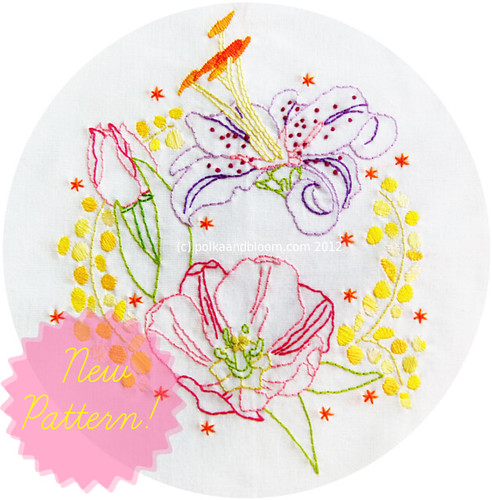 Nature's Jewels embroidery pattern