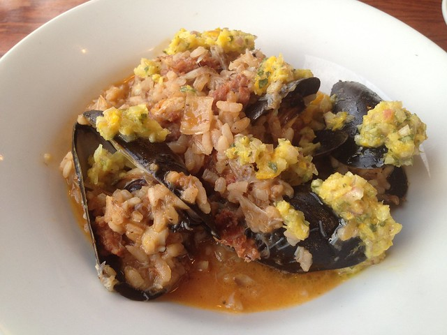 Louisiana blue crab and P.E.I. mussels bomba rice - Beast and the Hare