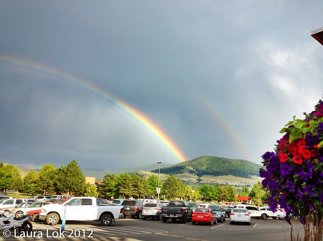 double rainbow over missoula
