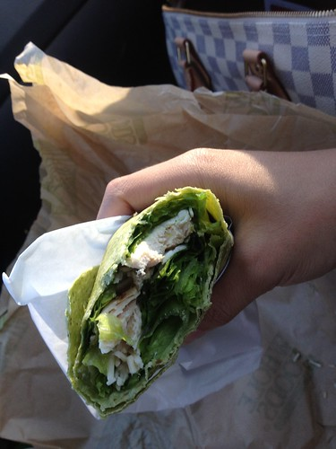 Spinach Caesar Chicken Wrap