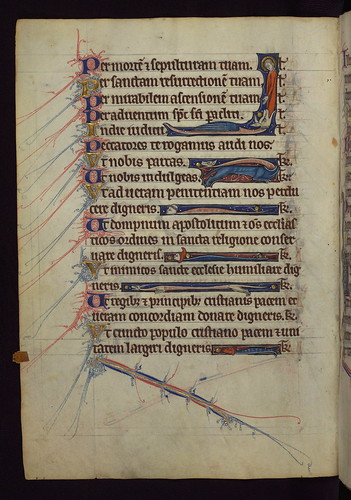 Book of Hours, St. Margaret swallowed by Dragon, Walters Manuscript W.102, fol. 30v by Walters Art Museum Illuminated Manuscripts