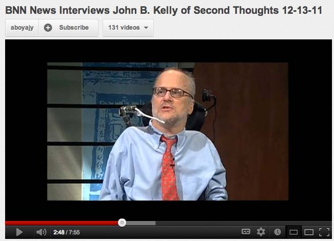 John B. Kelly being interviewed BNN 12-13-11