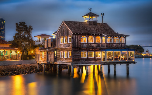 The Pier Cafe at Dusk