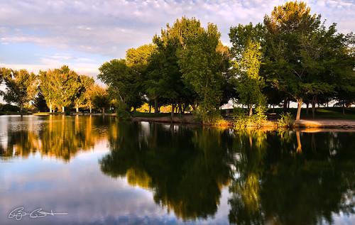 statepark trees sunset sun reflection water landscape lasvegas nevada tulesprings floydlambpark nikond800 nikon2470mm28g mulberrylake bjornburton