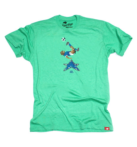EA SPORTS Green 16 Bit Soccer T-Shirt By Sportiqe