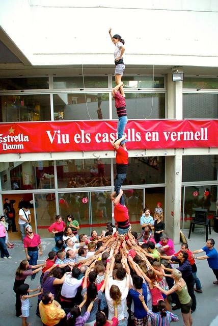 castellers practice in barcelona