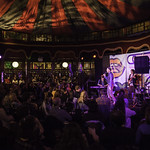 Unbound - Tongue Fu | Late night fun in the Spiegeltent with this riotous experiment in live literature, music and improvisation © Robin Mair