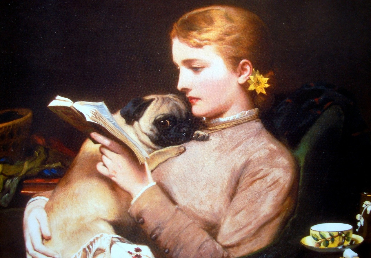 Blond and Brunette by Charles Burton Barber, 1879