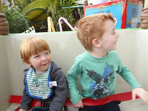 Archie and Henry in Flik's Flyers