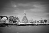 Wat Arun Temple - Black and White Landscape