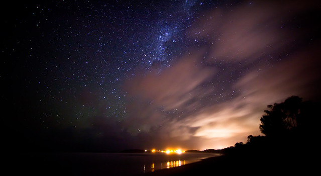 Arrawarra Beach, night sky. (Explored Apr. 23, 2012 -- first!)