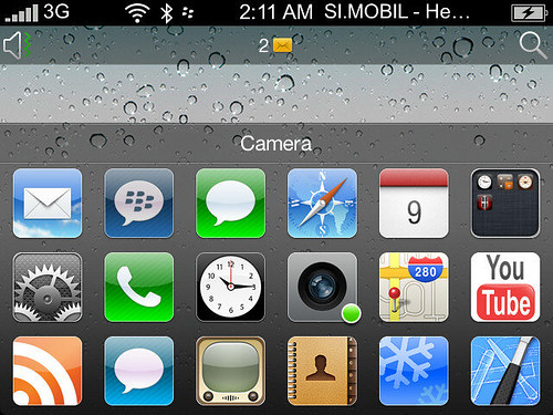 Change BlackBerry display Like iPhone