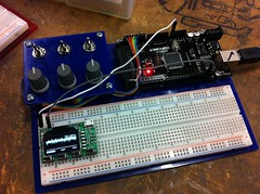 electronic instrument(0.0), breadboard(1.0), personal computer hardware(1.0), microcontroller(1.0), electronics(1.0), electrical network(1.0),