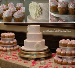 Pink Dessert Table Collage