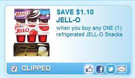 Jell-O Snacks  Coupon