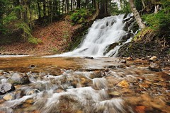 Morgan Falls - (Morgan Creek)  Marquette , Michigan by Michigan Nut