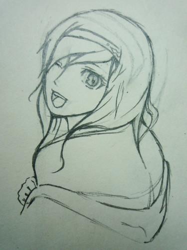 铅笔手绘卡通女孩 唯美卡通女孩铅笔手绘 铅笔简单手绘卡
