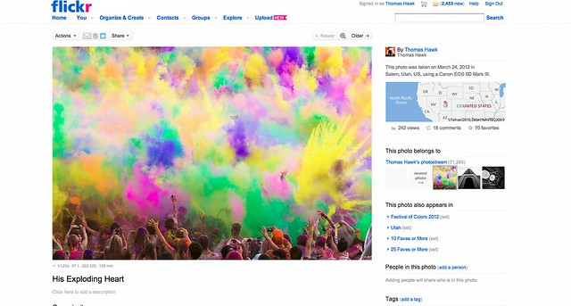 "New Flickr Photo Page on a 17"" MacBook Pro"