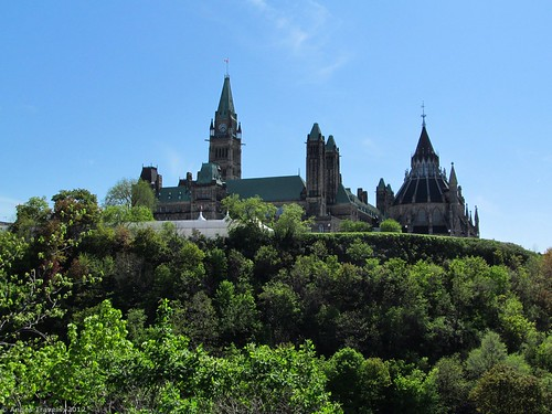 Parliament Hill from Major's Hill Park, Ottawa, Canada