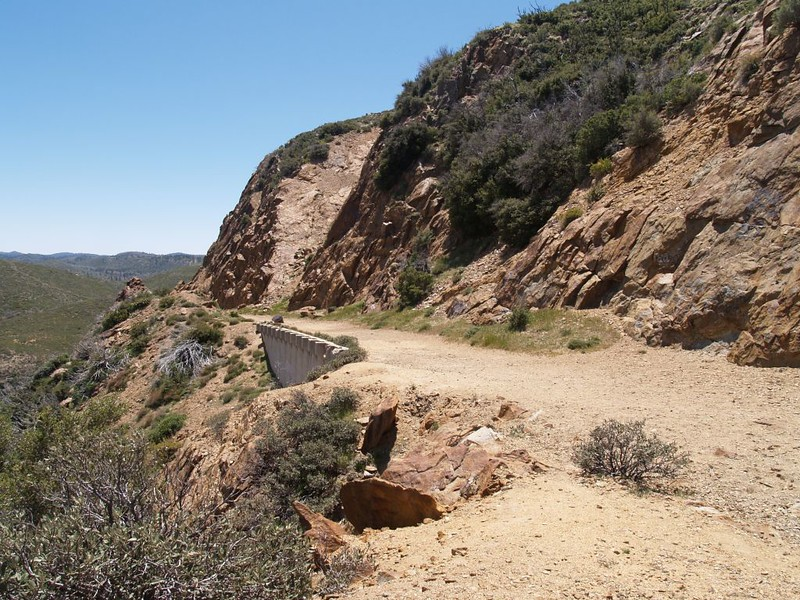 The old highway, now the Pacific Crest Trail at Kwaamii Point