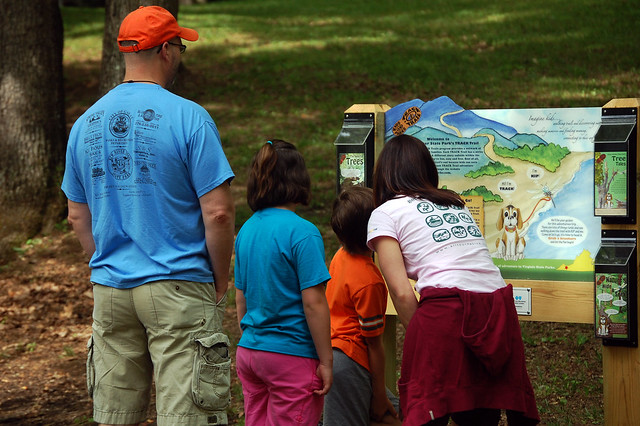 Check with the park office on self-guided programs and trails