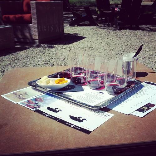 Wine tasting at Paraduxx