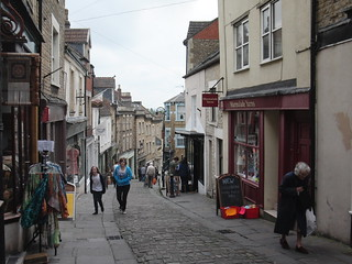 quaint street in Frome