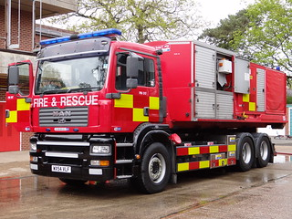 Hampshire Fire & Rescue Service - 58 Hardley MAN Hose Layer Unit / High Volume Pumping ( WX54 VLF )