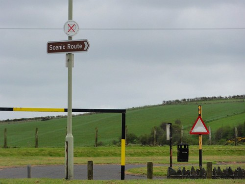 Scenic Route Sign at Browns Bay