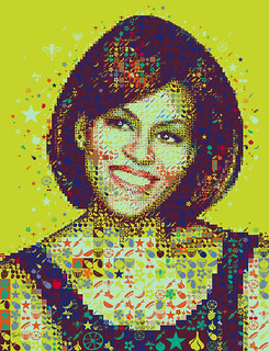 A colorful Michelle Obama for Hemispheres magazine