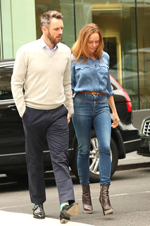 Stella McCartney Denim Shirt Celebrity Style Woman's Fashion