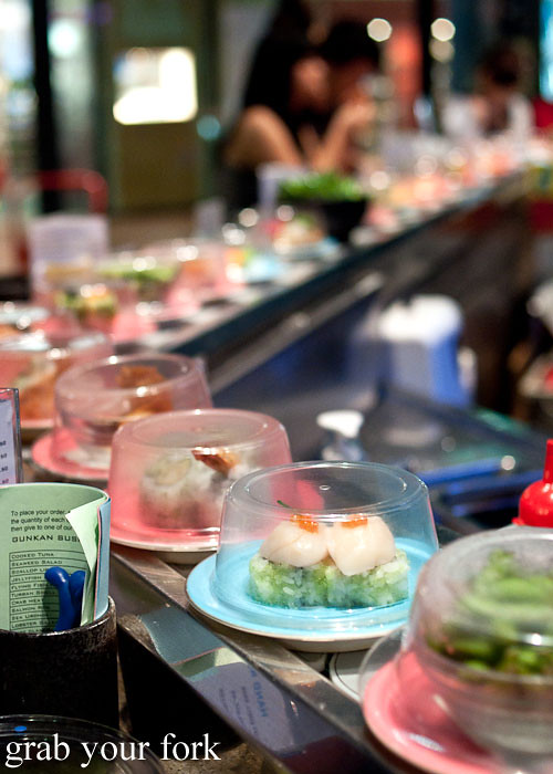 Sushi train at Umi Kaiten-Zushi