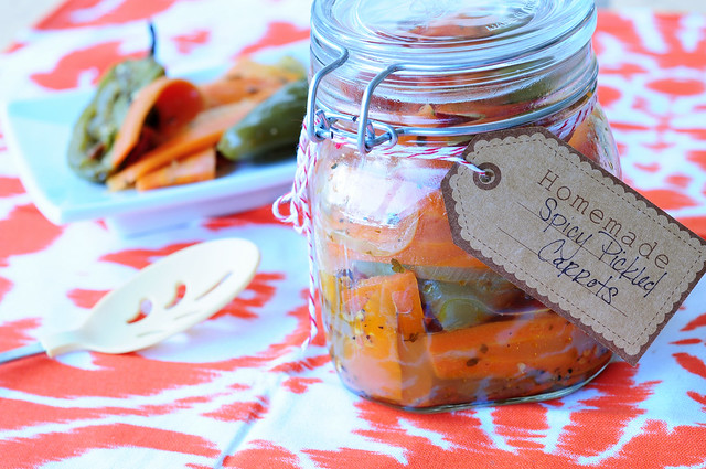 homemade spicy carrots