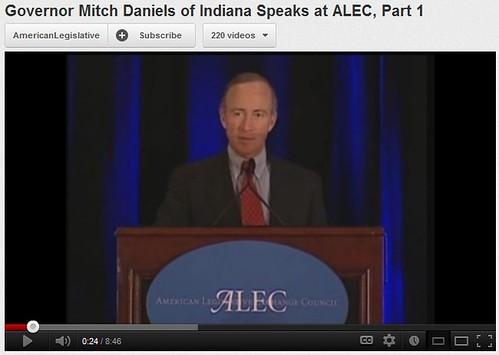 Daniels speaking at ALEC - 2008
