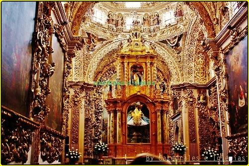 """Capilla del Rosario""""Templo de Santo Domingo""""Puebla de los Ángeles,Estado de Puebla,México"""