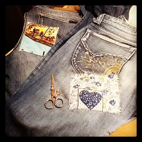 Make do and mend #jeans #patch #sewing