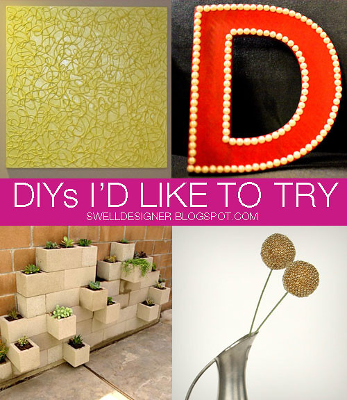 DIYs-I'd-like-to-try