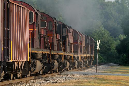 railroad west am ar smoke fork trains missouri arkansas alco c420
