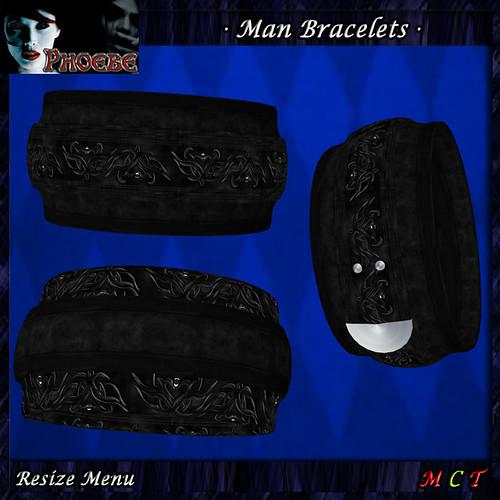 *P* Gothika Man Bracelets 1 & 2