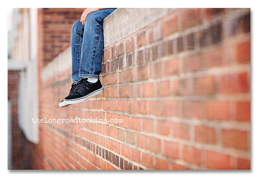 Sneakers over the brick wall blog