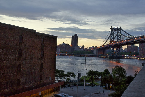 Manhattan Bridge from 3J, One Main St, Brooklyn