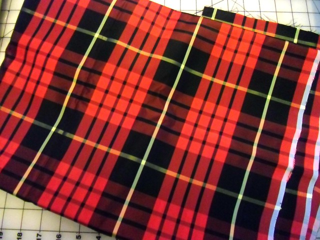 Plaid Taffeta Fabric
