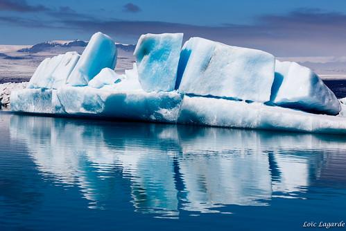 Jokulsarlon Floating Icebergs
