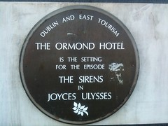Photo of James Joyce brown plaque