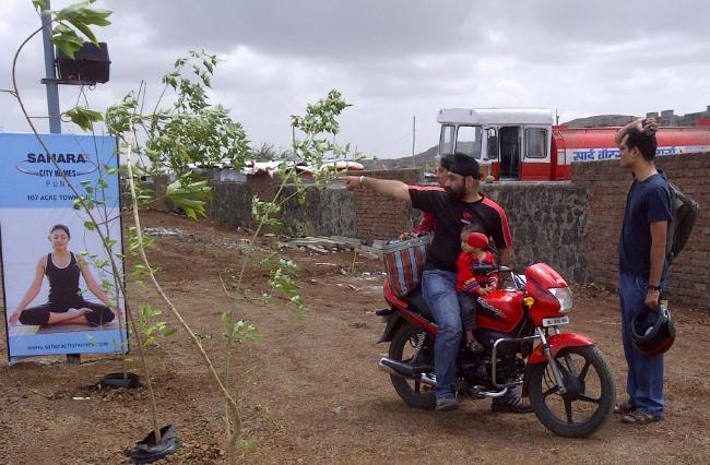 At the Site of Sahara City - Visit Sahara City Homes Pune, 1 BHK 2 BHK 2.5 BHK 3 BHK Flats off Vishrantwadi Lohegaon Road, Pune 411015